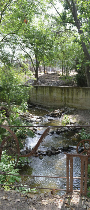 Pasillo del silencio en Rancho Guacatay
